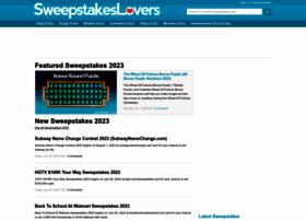 sweepstakeslovers.com