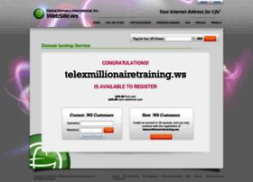 Telexmillionairetraining.ws