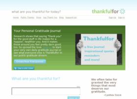 thankfulfor.com