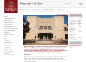 treasurer.uark.edu