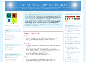 tricks-for-new-bloggers.blogspot.com