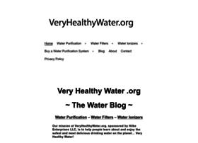 veryhealthywater.org