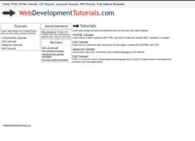 webdevelopmenttutorials.com