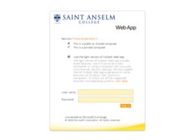 Webmail.anselm.edu