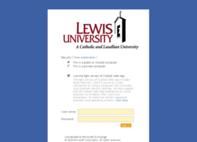 webmail.lewisu.edu