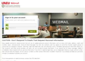 Webmail.uaeu.ac.ae