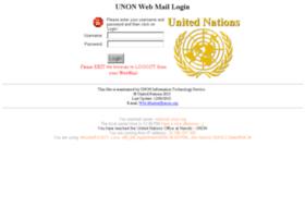 Webmail.unon.org