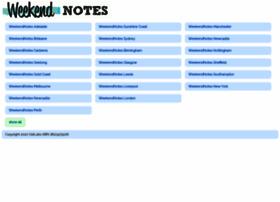 weekendnotes.com