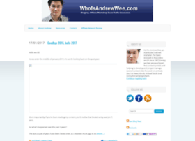 whoisandrewwee.com